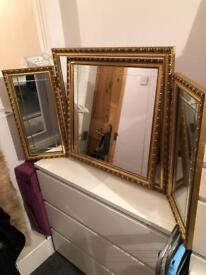 Gold Dressing Table Mirror