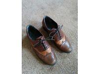 Women's Vintage Leather Oxfords - Size 5UK / 7.5US / 38EU