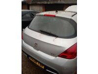 peugeut 308 5dr tailgate in silver