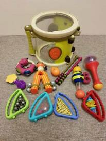 Pre-School Drum and Musical Instruments Set Plus Extras
