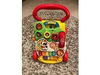 Fisher price music table and vtech baby walker