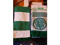 Two Celtic scarves one with tag
