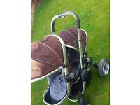 Icandy peach blossom double pushchair/travel system