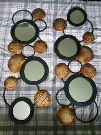Bronzed effect mirror set