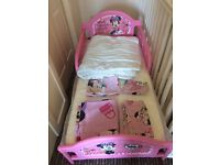 Mini mouse toddler bed set