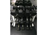Rubber Hex Dumbbell Set 4.5 kg - 15kg