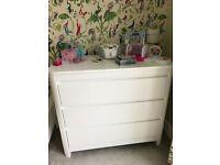 Children's white 3 drawer unit by Troll Sun