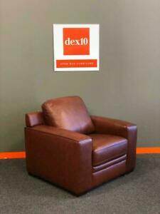 Genuine TOP GRAIN Leather Accent Chairs $600 each (LESS THAN ONLINE WHOLESALE). at dex10