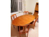 """""""Nathan"""" high quality wooden table and 4 chairs"""