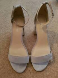 New Look grey sandal heels size 5