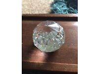Glass crystal ball ornament