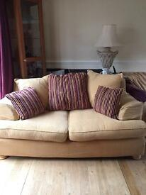 Fab two seater sofa with removable covers.
