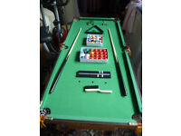Dunlop 4ft Pool/Snooker Table Complete With Accessories