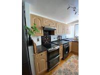 Complete kitchen (cabinets, worktops, sink, tap, extractor fan)