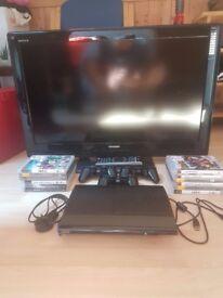 """Sony playstation 3 slim 500 gb version + Toshiba regza 32"""" HD ready lcd tv *BUNDLE SALE*"""