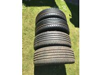 Tyres 2 brand new 205/55 16 continental and 2 nearly new with 7mm tread