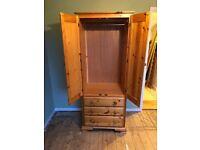 Pine 2 door wardrobe.
