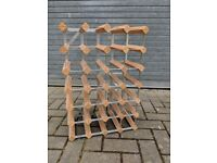 Wooden Wine Rack - Holds 24 bottles