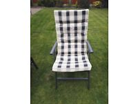 Pair of Powder Coated Pure Aluminium Garden Folding Z Chairs