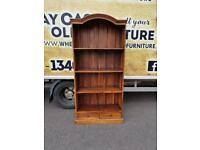 Pine wood tall shelves with drawers £60