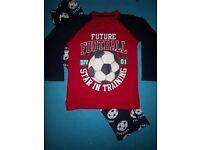 Boys Football Pyjamas Age 9 Years IP1
