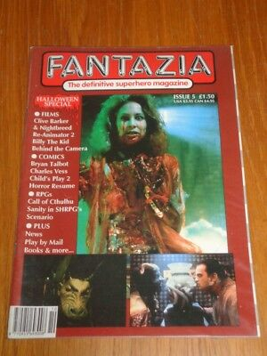 Halloween 5 Billy (FANTAZIA #5 HALLOWEEN SPECIAL NIGHTBREED BILLY KID CHILDS PLAY US UK MAGAZINE)