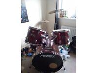 Peavey Drum Kit & Stool - perfect for beginner