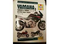 Haynes repair manual for Yamaha TDM 850 TRX 850 and Tenere 750