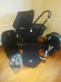 Bugaboo Cameleon 3 Special Edition Complete Travel System All black or black & blue
