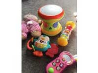 Baby toy bundle includes vtech and ELC