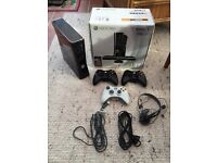 Xbox 360 Slim 250GB Console Bundle, 11 Games & 3 Controllers. *No Kinect*