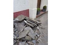 Free stone slabs from crazy paving