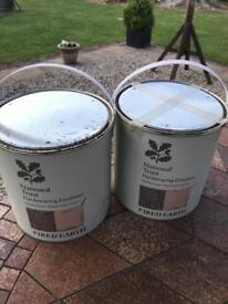 Fired Earth National Trust Hardwearing Emulsion - Saltram 2.5L x 2