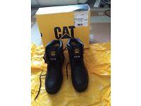 Caterpillar Holton Black Steel Toe Boots UK Size 8