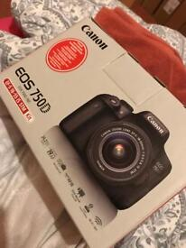 Cannon EOS 750D DSLR Camera with 18-55mm Lens