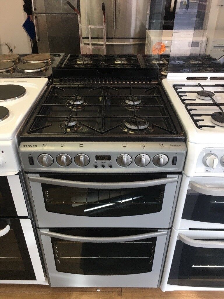 STOVES 55CM ALL GAS COOKER IN SILIVER