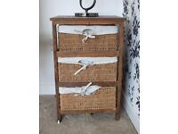 Rustic Side table with basket draws