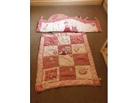 Girls cot bed set
