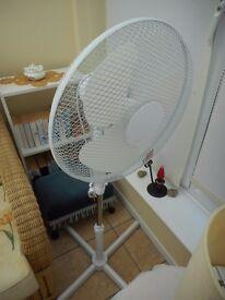 White Oscillating Pedestal Fan - 16 Inch