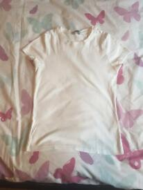 White tshirt size 8-10