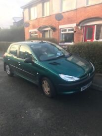 Peugeot 206, auto, only 30k, great running car.