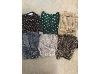 Clothes bundle 6 tops 8-10