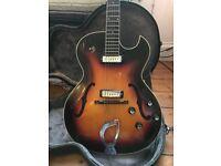 """1968 Guild T100D """"Slim Jim"""" Vintage Hollow Body Electric Guitar"""