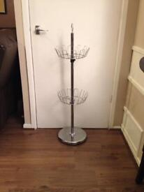 Chrome shoe stand