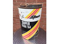 Vintage / Retro Oil can / Old Oil Barrel - Large Oil Can Filtrate Oil Can 20w/50- Oil Drum - Reduced