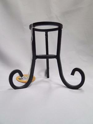 Bard's Metal 3 Scroll Display Stand for One Round / Oval Egg, Ornament, (Scroll Ornament Stand)