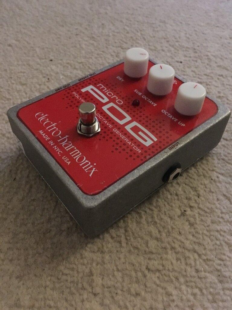 electro harmonix ehx micro pog guitar octaver effects pedal in drumchapel glasgow gumtree. Black Bedroom Furniture Sets. Home Design Ideas