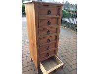 Tallboy 7-drawer solid wood unit