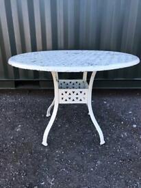 Aluminium Decretive Garden Table 4ft Round £60