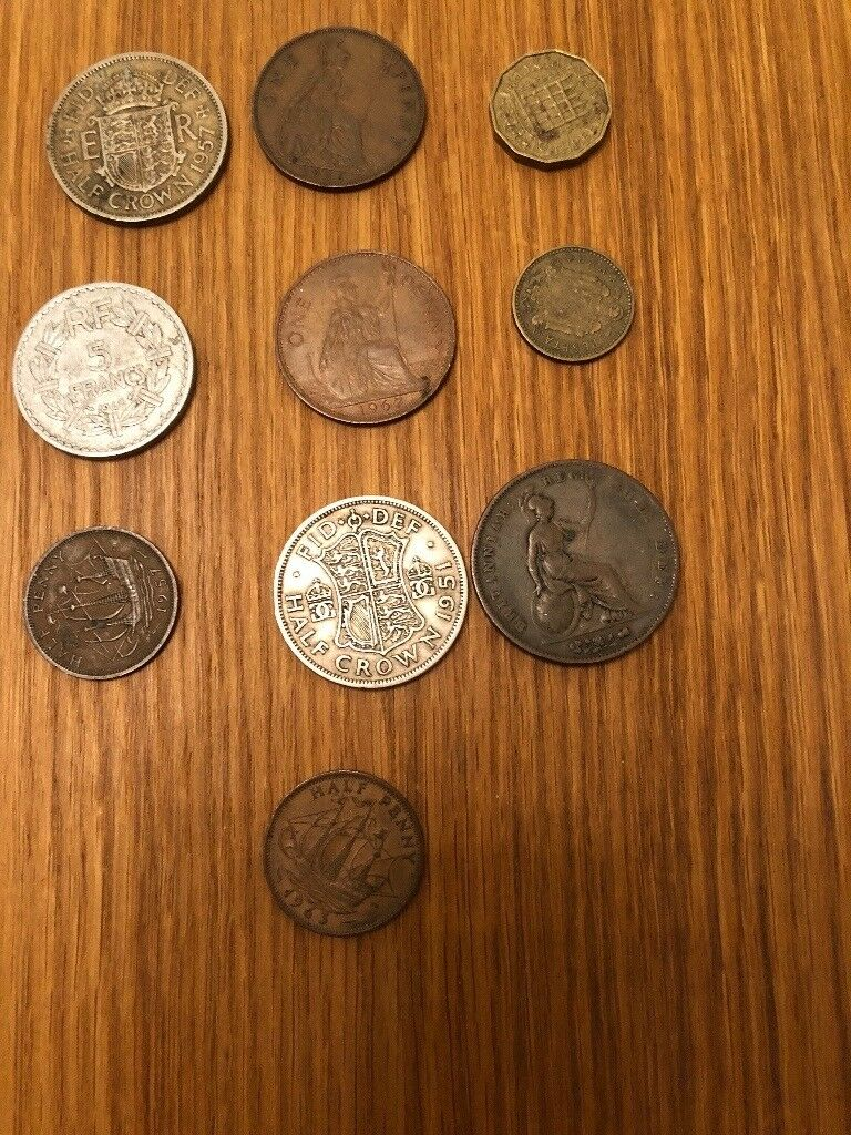 A range of old coins